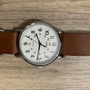Timex Brown Leather Weekender
